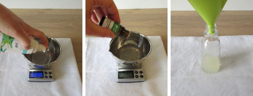 Recette de gel hydroalcoolique étape par étape