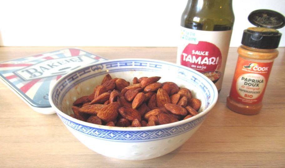 Recette amandes grillées tamari